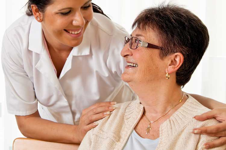 Speech Therapy Nursing Home Nurse and Patient