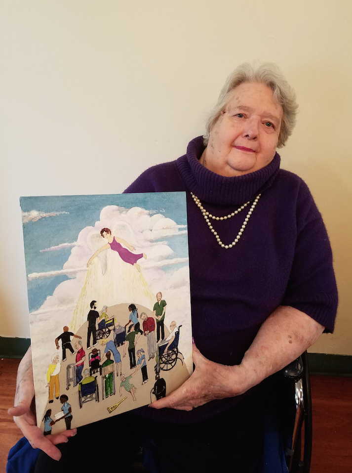 Suzanne & her painting