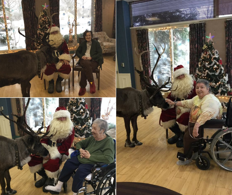 Santa visits Dunkirk location with his reindeer